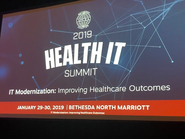 Opening Screen of 2019 Health IT Summit sponsored by GovDataHosting